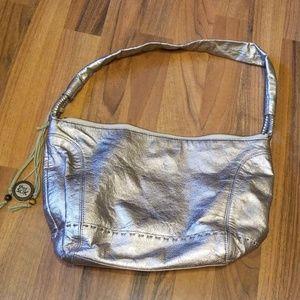 {The Sak} Gold Leather Shoulder Bag